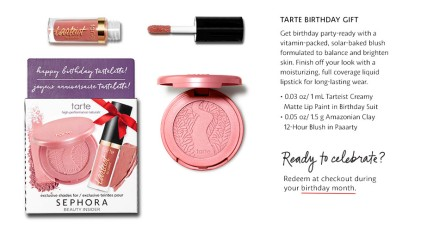 2017 Bi Birthday Modal Tarte D This Year Sephora Is Offering 3 Amazing Sets Of Gifts